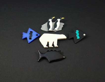 Broches Pingouins Ours Poissons